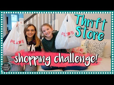 BEST FRIENDS BUY EACH OTHER OUTFITS - THRIFT STORE CHALLENGE!