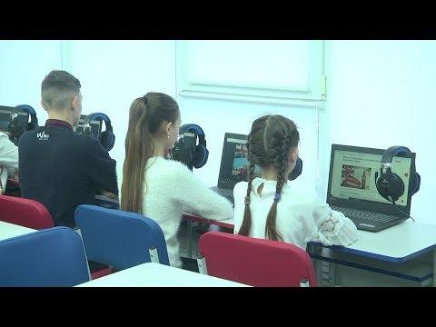 В школе №162 открыли лингафонный кабинет