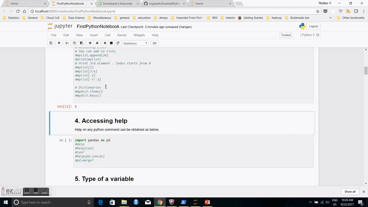 My 2 video presentations on 'Essential Python for