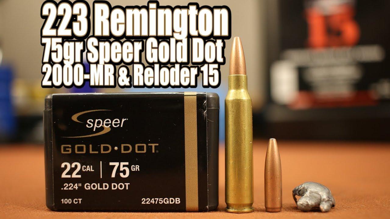 75gr Speer Gold Dot in 223 Remington