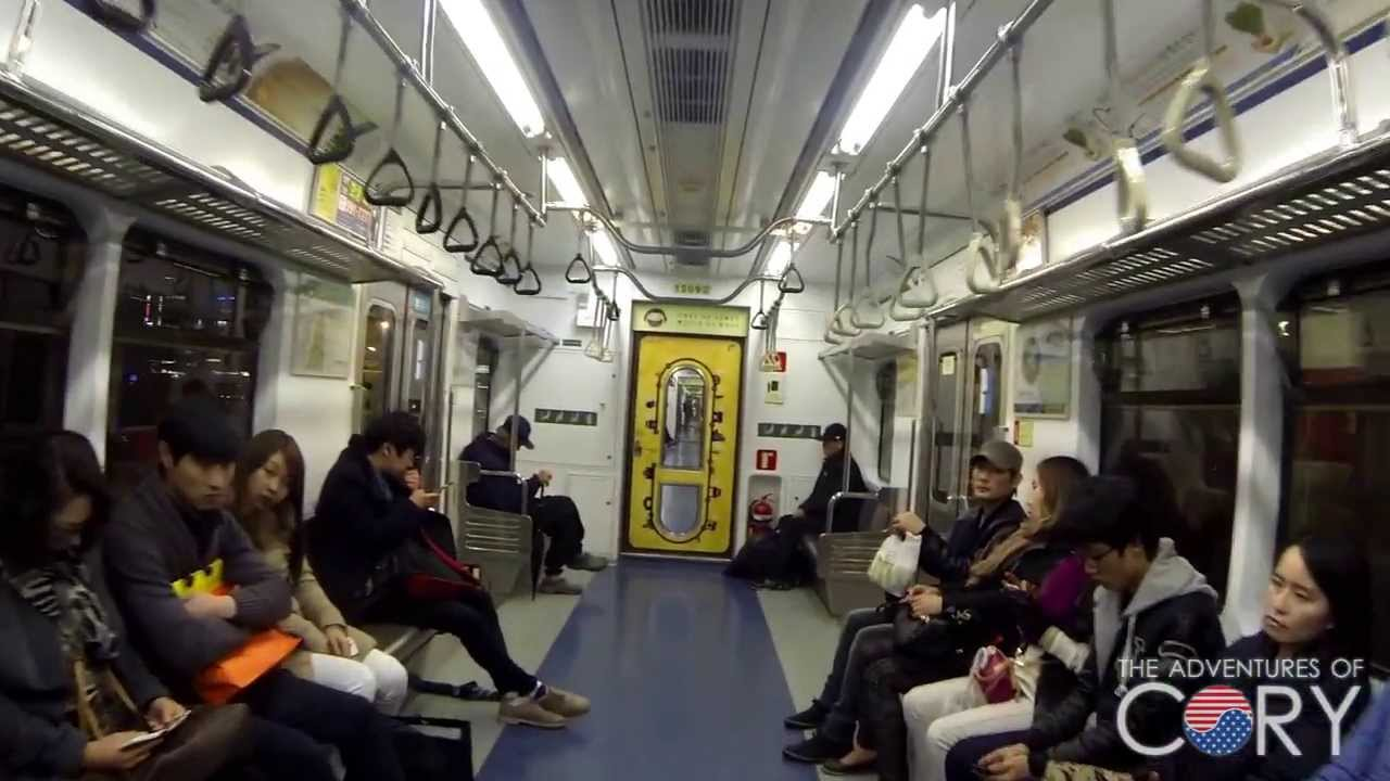 seoul subway inside the line 1 train 1 youtube. Black Bedroom Furniture Sets. Home Design Ideas