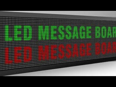 How Make Led Display Board Mnds Scrolling Display Youtube
