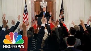 Highlights From President Donald Trump's Heated Post-Midterm Press Conference | NBC News