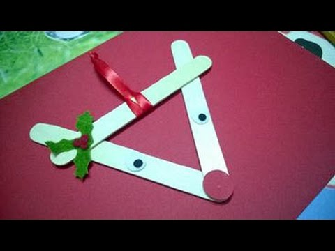 DIY Christmas Ornaments - Reindeer Christmas Using Popsicle Stick ...