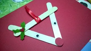 DIY Christmas Ornaments - Reindeer Christmas Using Popsicle Stick