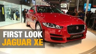 First Look: Jaguar XE at Delhi Auto Expo 2016