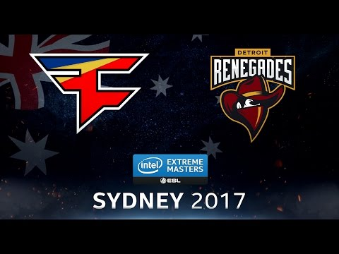 CS:GO - FaZe vs. Renegades [Mirage] - Swiss Round 1 - IEM Sydney 2017