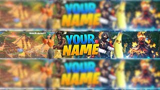 [FREE] BANNER TEMPLATE YOUTUBE Season 8 *NEW* FORTNITE BANNER DOWNLOAD