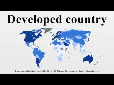 Developed country