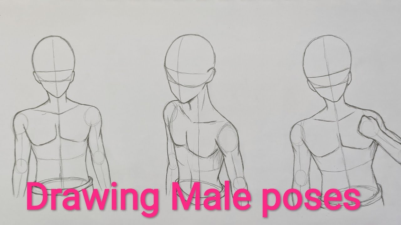 Drawing Some Manga Anime Male Poses Paintingtube