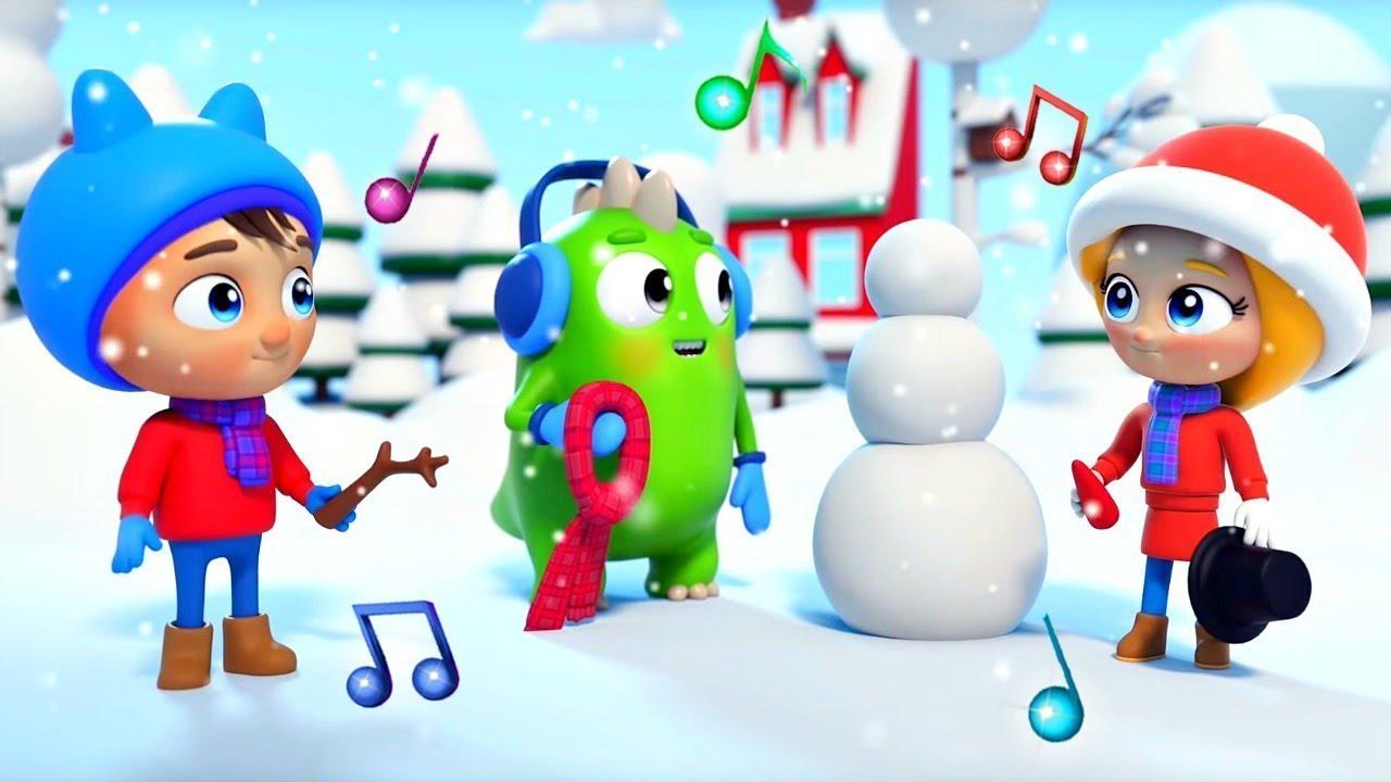 Детская песня - Снеговик. Веселые музыкальные мультики Сина и Ло