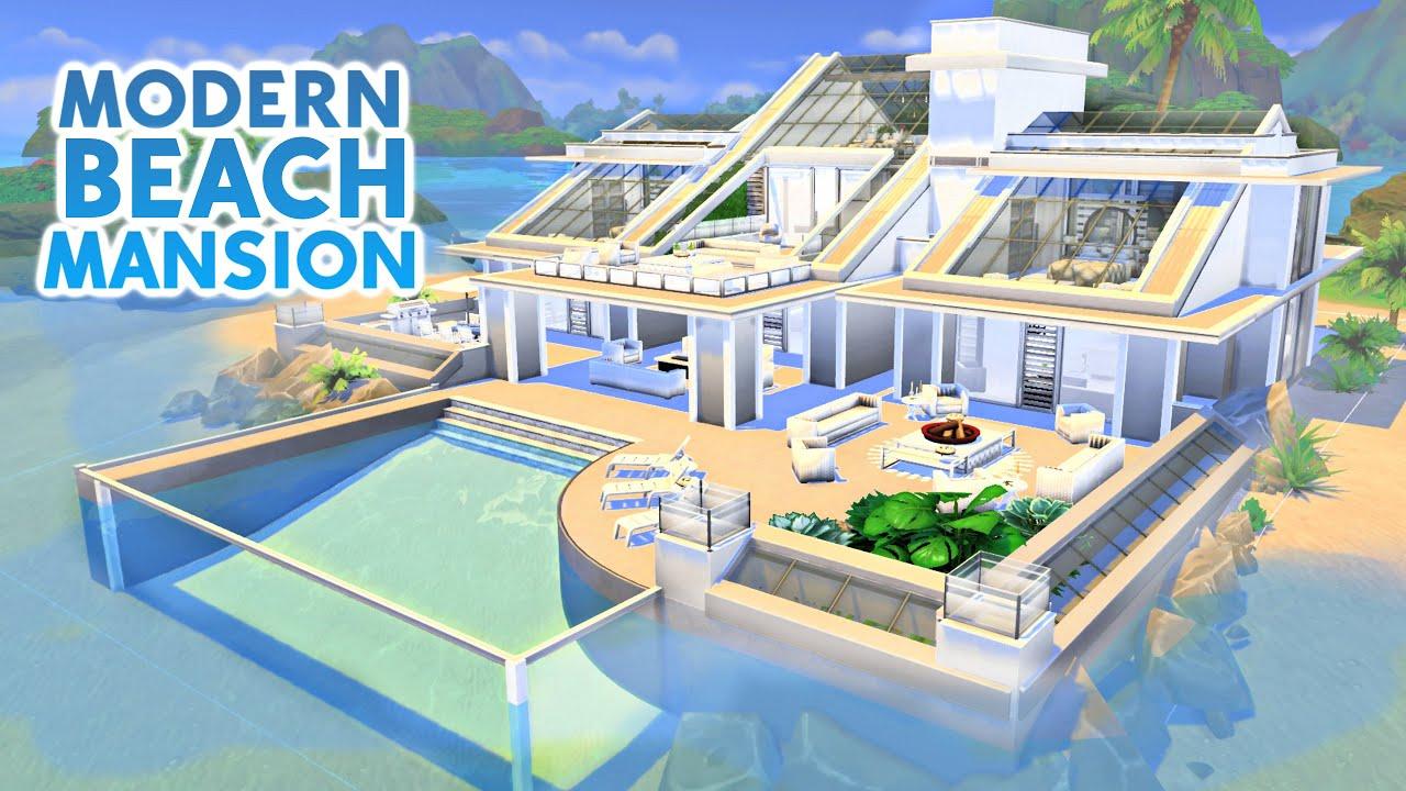 Modern Beach Mansion Sims 4 Sd