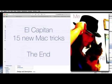 Mac OS 10.11 El Capitan - 15 New Mac Tips (9 Min)