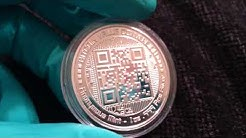Bitcoin? Or Silver? YES!! The Bitcoin Value Conversion 1 oz. Silver Proof Round Anonymous Mint APMEX