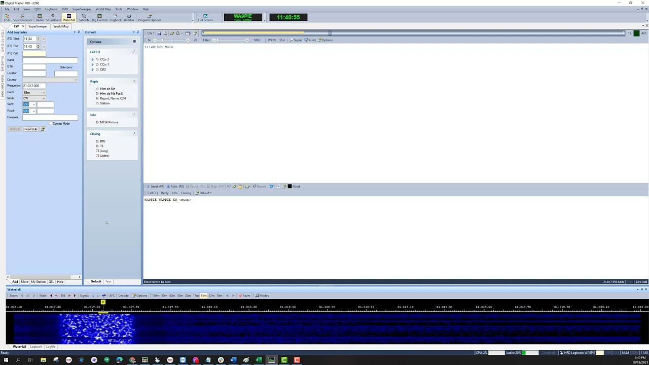 Download Demonstration Copy CW Ham Radio Deluxe DM-780