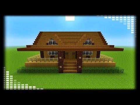 Tuto Petite Maison En Bois Minecraft Youtube