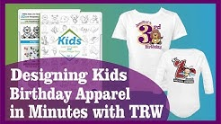 How to Design a Custom Kids Birthday Shirt in Minutes with TRW