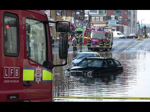 Flash Flood Aftermath in London | 4K