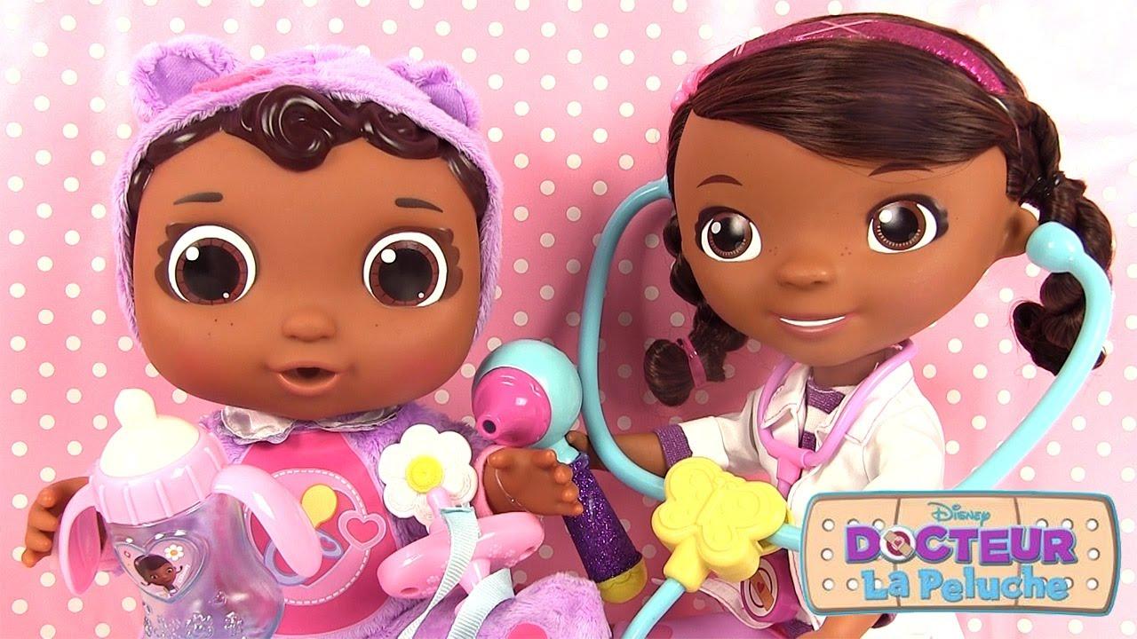 docteur la peluche jouet poupon b b cece malade avec poup e baby alive youtube. Black Bedroom Furniture Sets. Home Design Ideas