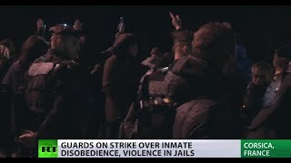 Riot police fire tear gas not at inmates but guards at Corsica prison