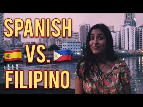 HOW SIMILAR ARE SPANISH AND FILIPINO ? SIMILITUDES ENTRE EL