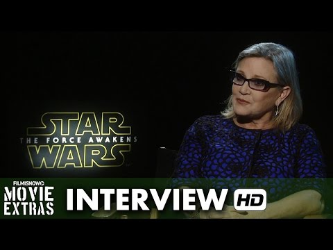 Star Wars: The Force Awakens (2015) Official Movie Inteview - Carrie Fisher is 'Leila'