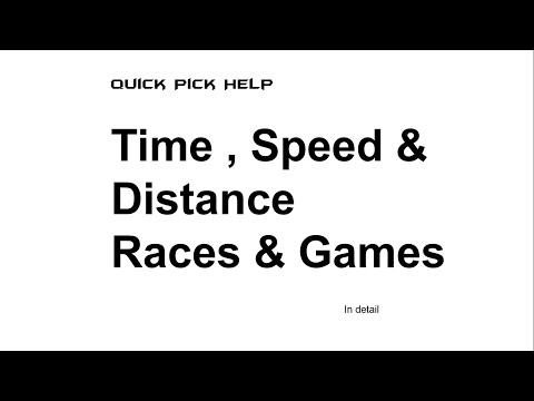 Time Speed and Distance Races and Games :Aptitude Topic HD