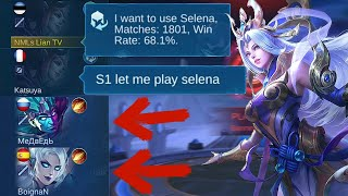 HOW TO DEAL WITH TROLL PICKS - HARD GAME SELENA GAMEPLAY | Mobile Legends