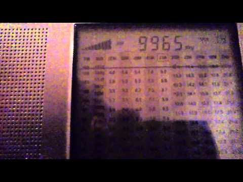 Radio Cairo 9965 kHz broadcast from Egypt to North America