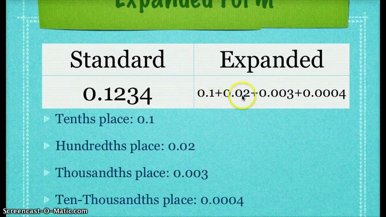 Decimals Grade 5 (examples [ 720 x 1280 Pixel ]