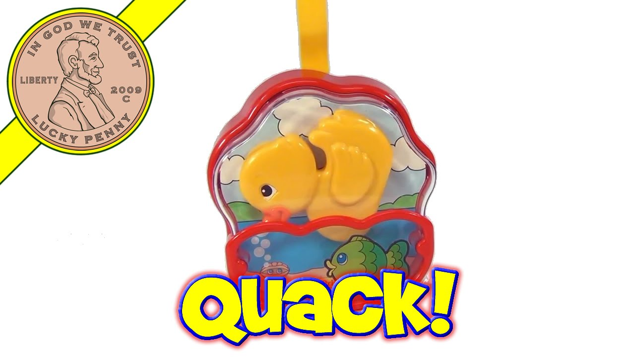 Crib music box for babies - Vintage Fisher Price Quacking Yellow Duck Fish Music Box Baby Crib Toy 5703 From 1995