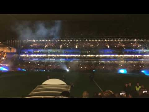 Chelsea vs Manchester United: Light show at Stamford Bridge