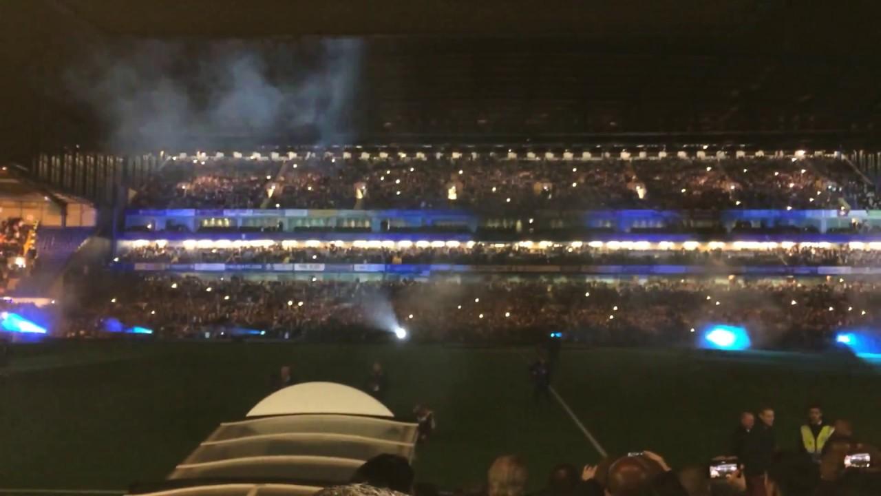 Chelsea Vs Manchester United Light Show At Stamford