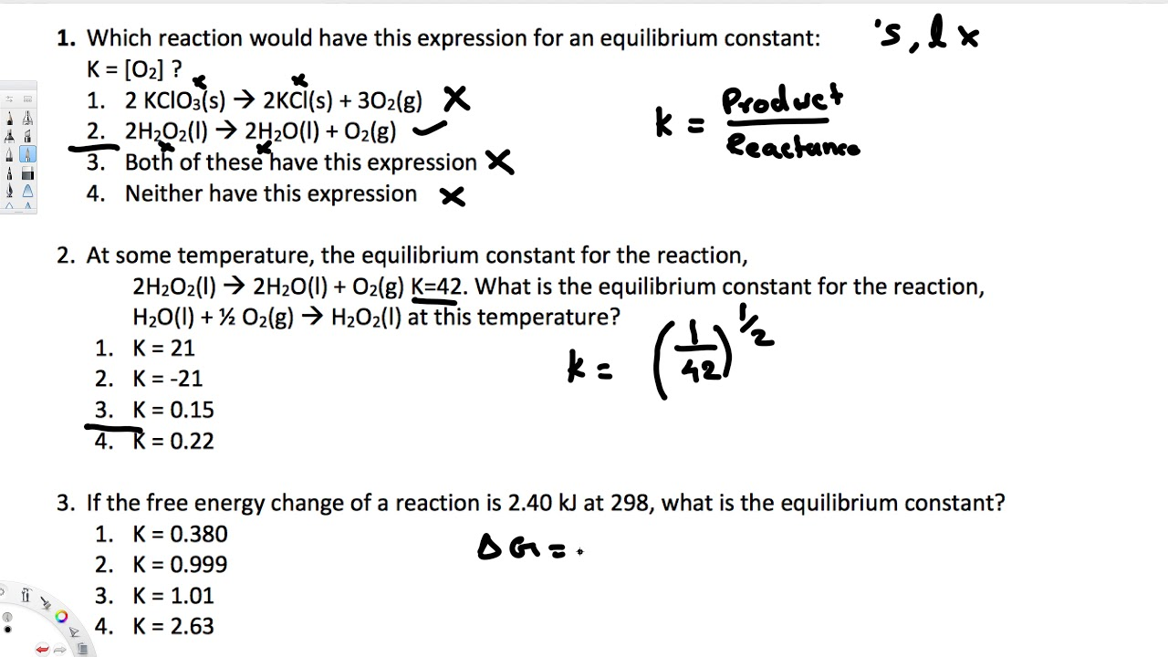 Equilibrium Constant - Topics in General Chemistry