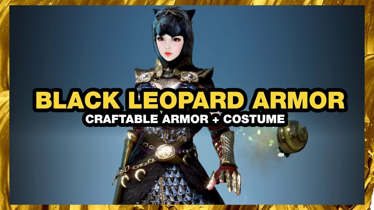 Bdo 2020 Halloween Black Leapord Design Bundle BLACK DESERT ONLINE Black Leopard Armor CRAFTABLE COSTUME   YouTube