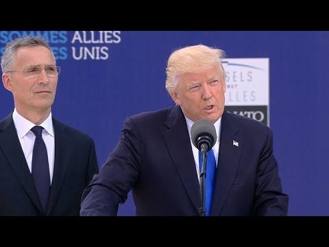 Watch: President Trump's speech at NATO HQ