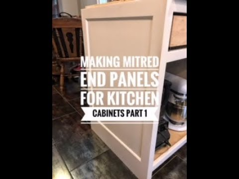 How To Make Finished End Panels For Kitchen Cabinets Part 1 Youtube