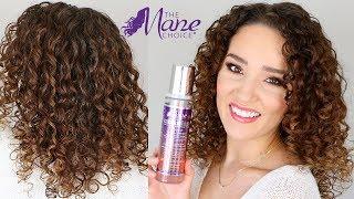 Curly Hair Routine using Mousse - The Mane Choice Peach Black Tea & Vitamin Fusion Line Review