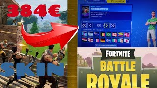 Noob with Most Valuable 384€ Skin 😮 + Sweepstakes | Fortnite Battle Royale PS4