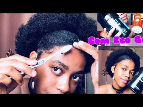 Penteados para cabelos crespos curtos/com eco gel