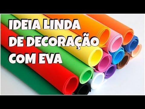IDEIA DE DECORAÇÃO USANDO EVA | ESPECIAL DIA DAS MÃES | Viviane Magalhães