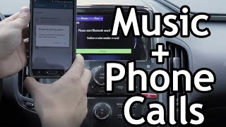 Setup Music and Phone Calls over Bluetooth in a Chevy Volt (Opel Ampera)