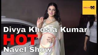 Divya Khosla Kumar Hot Navel Show In Saree At Bulbul Movie Press Conference | Bollywood GupShup