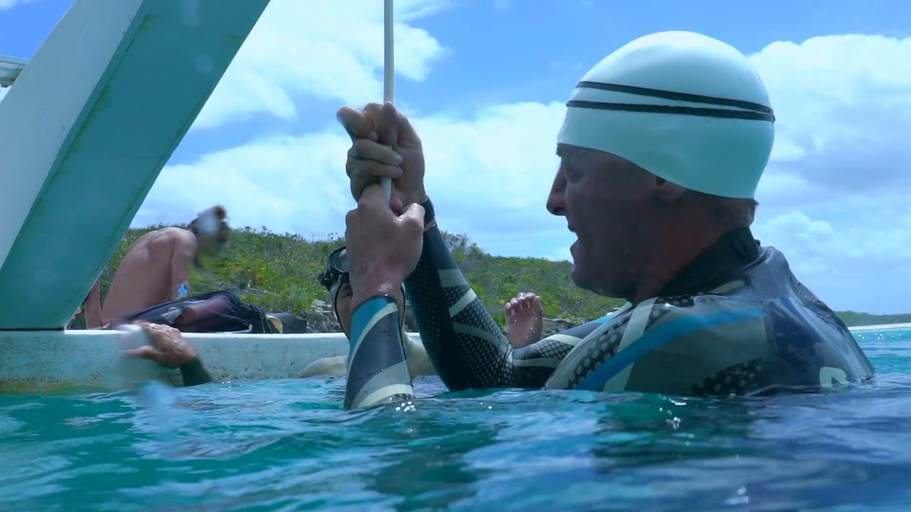 [SUPER SLOW] William Trubridge Training at Dean's Blue Hole Vertical Blue  2016
