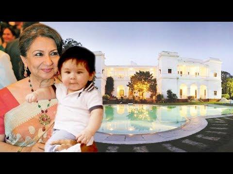 Kareena's Son Taimur Visits PATAUDI HOUSE With Sharmila Tagore