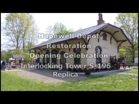 This YouTube video covers the May 20 opening of the Hopewell Depot Switching Tower in Hopewell Junction.
