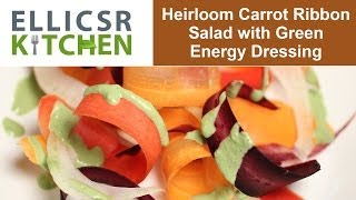 Heirloom Carrot Ribbon Salad With Green Energy Dressing