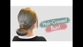 Hair-Crossed Bun | Updos | Cute Girls Hairstyles