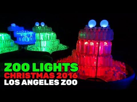 Zoo Lights FULL holiday display during 2016 Christmas season at Los Angeles Zoo