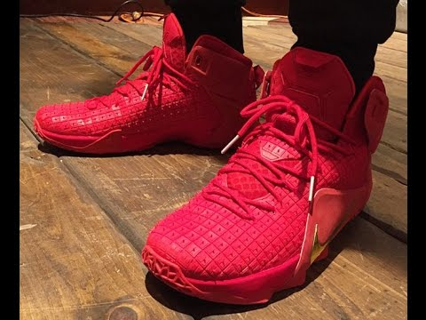 """Nike LeBron 12 """"Red Rubber City"""" (Red Octobers)  Preview  - YouTube b7ce136b1"""